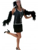Black Sequin & Fringe Plus Size Flapper buy now
