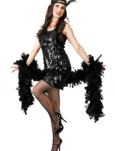 Black Tear Drop Flapper Costume buy now