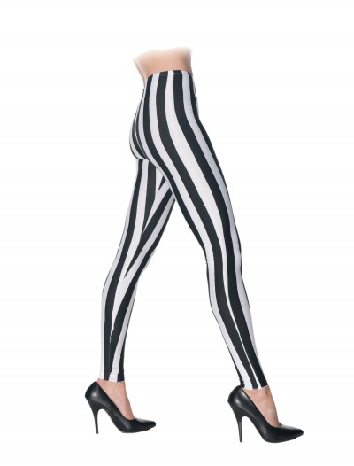 Black & White Striped Leggings buy now