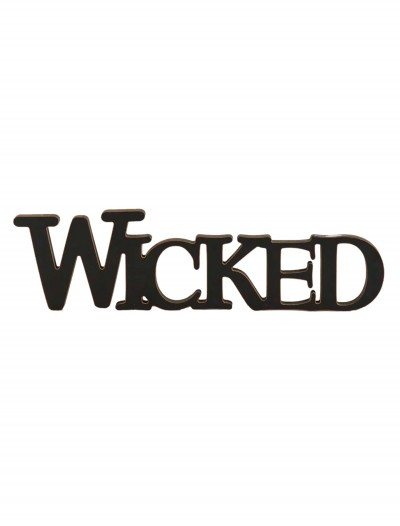 Black Wicked Cutout Sign buy now