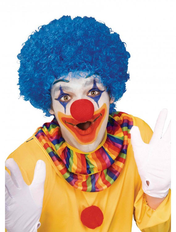 Blue Afro Clown Wig buy now