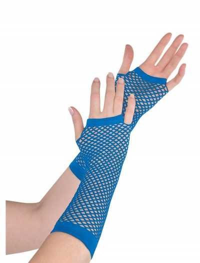 Blue Fishnet Long Gloves buy now