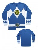 Blue Power Rangers Long Sleeve Costume Shirt buy now