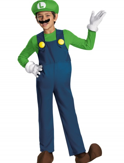 Boys Luigi Prestige Costume buy now