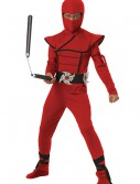Boys Red Stealth Ninja Costume buy now