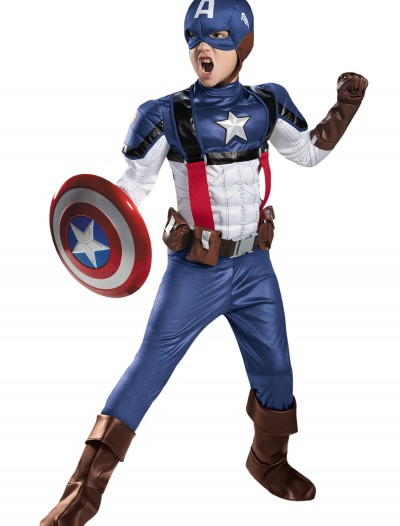 Boys Retro Captain America Prestige Costume buy now