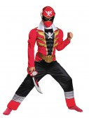 Boys Super Megaforce Red Ranger Muscle Costume buy now