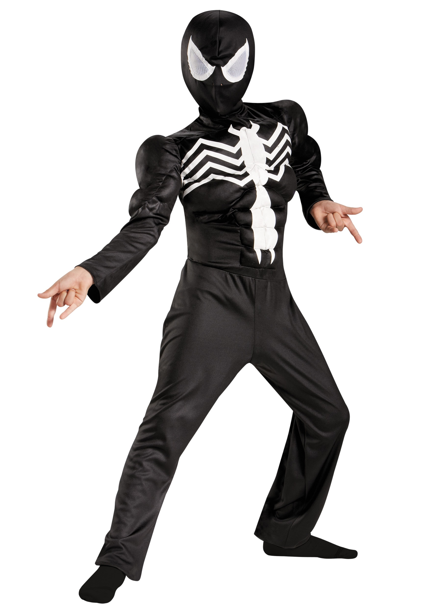 Boys Ultimate Black Suited Spider-Man Classic Muscle Costume  sc 1 st  Halloween Costumes & Boys Ultimate Black Suited Spider-Man Classic Muscle Costume ...