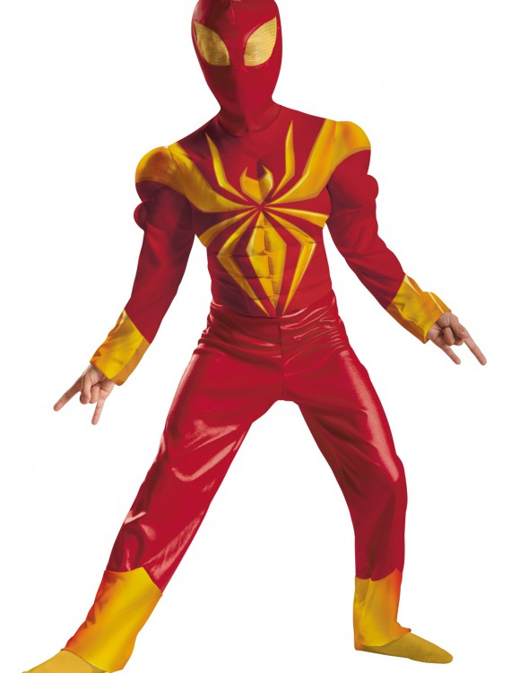 Boys Ultimate Iron Spider-Man Classic Muscle Costume buy now