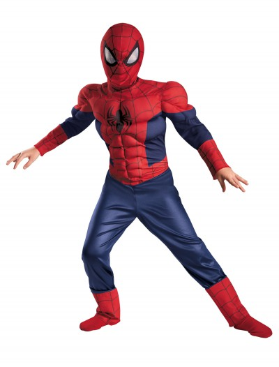 Boys Ultimate Spider-Man Classic Muscle Costume buy now