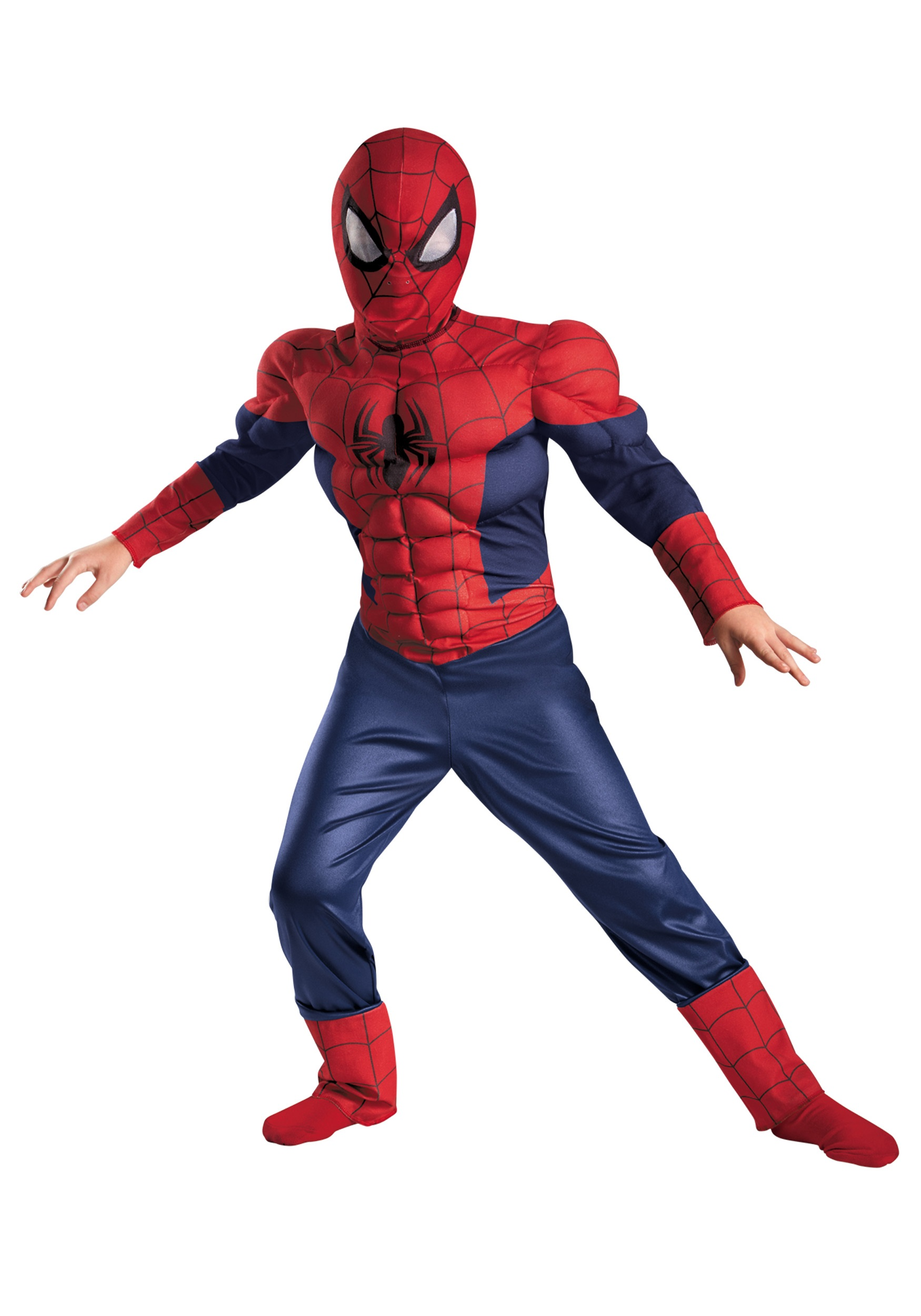 boys ultimate spider man classic muscle costume