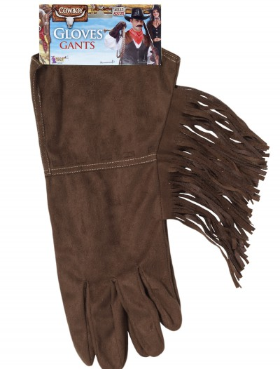 Brown Fringe Cowboy Gloves buy now
