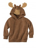 Brown Moose Face Hoodie buy now