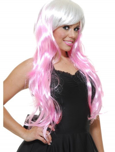 Bubble Gum White/Pink Wig buy now