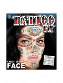 Candy Skull Face Temporary Tattoo buy now