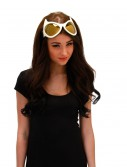 Cat Eye Goggles White and Gold buy now
