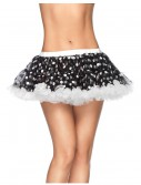 Chiffon Mini Polka Dot Petticoat Blk/Wht buy now