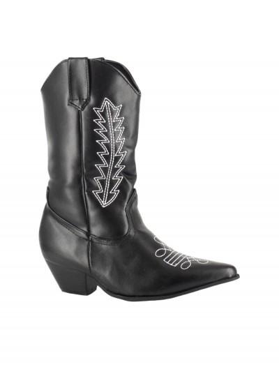 Child Black Cowboy Boots buy now