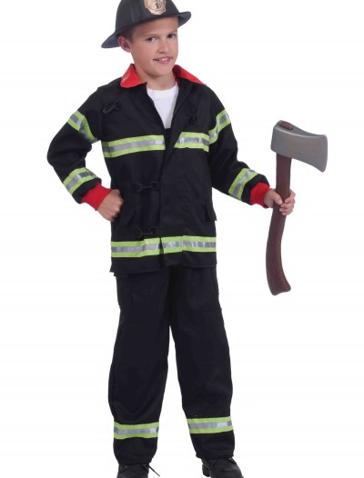 Child Black Fireman Costume buy now