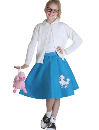 Child Blue 50s Poodle Skirt buy now
