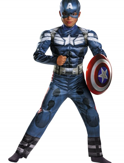 Child Captain America 2 Classic Muscle Costume buy now