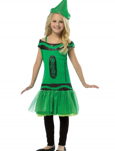 Child Crayola Glitz Emerald Dress buy now