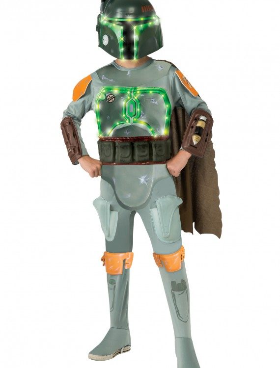 Child Deluxe Light Up Boba Fett Costume buy now