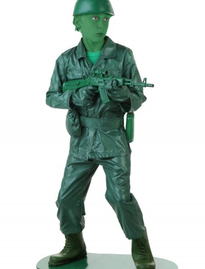Child Green Army Man Costume buy now