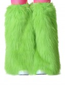Child Green Furry Boot Covers buy now