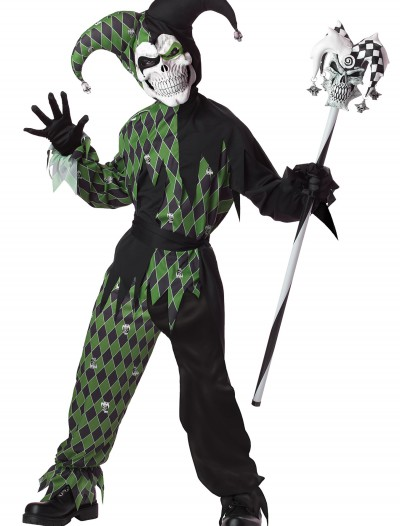 Child Green Scary Jester Costume buy now
