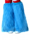 Child Light Blue Furry Boot Covers buy now
