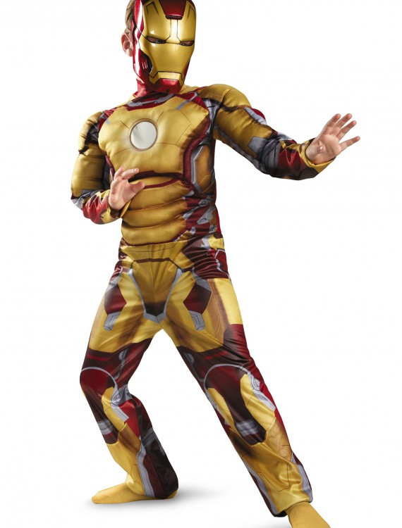 Child Muscle Iron Man Mark 42 Costume buy now