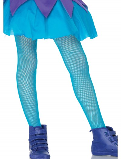 Child Neon Blue Fishnet Tights buy now
