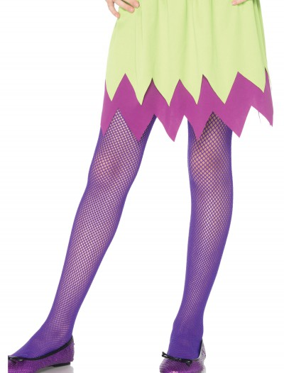 Child Neon Purple Fishnet Tights buy now