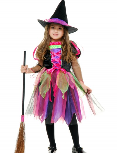 Child Rainbow Glitter Witch Costume buy now