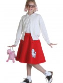 Child Red 50s Poodle Skirt buy now