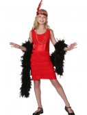 Child Red Fringe Flapper Costume buy now