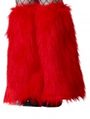 Child Red Furry Boot Covers buy now