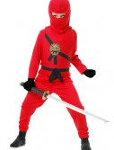 Child Red Ninja Master Costume buy now