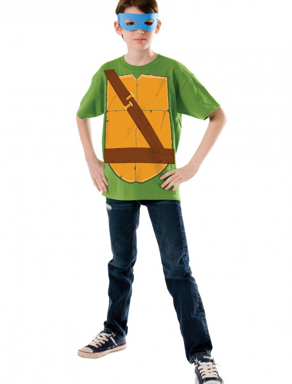 Child TMNT Leonardo Costume Top buy now