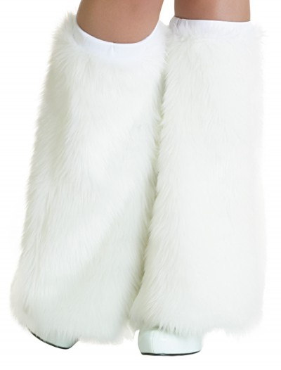 Child White Furry Boot Covers buy now