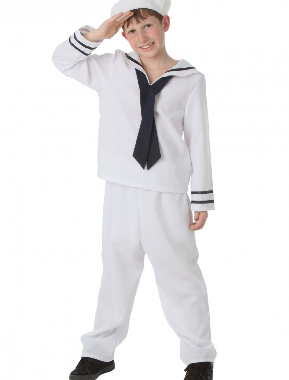 Child White Sailor Costume buy now