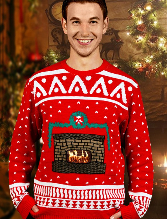 Crackling Fireplace Sweater buy now