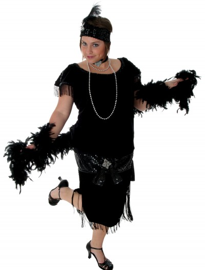 Deluxe Black Plus Size Flapper buy now