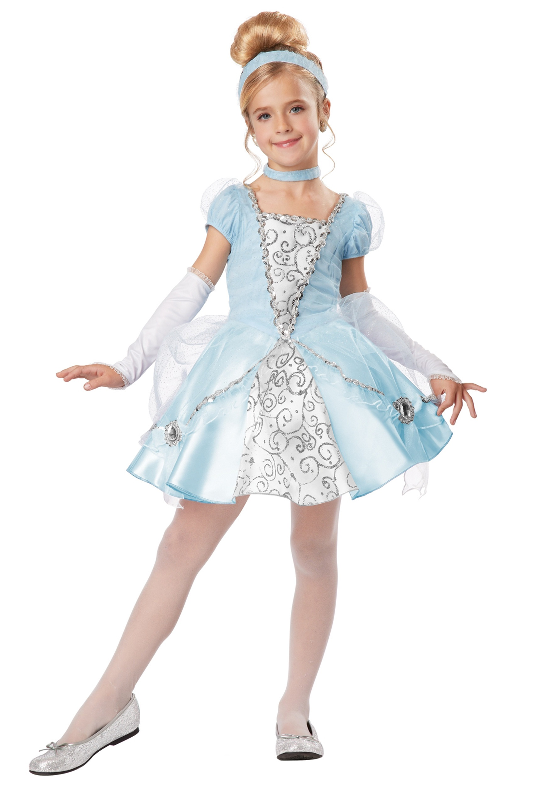 Deluxe Girls Cinderella Costume  sc 1 st  Halloween Costumes & Deluxe Girls Cinderella Costume - Halloween Costumes