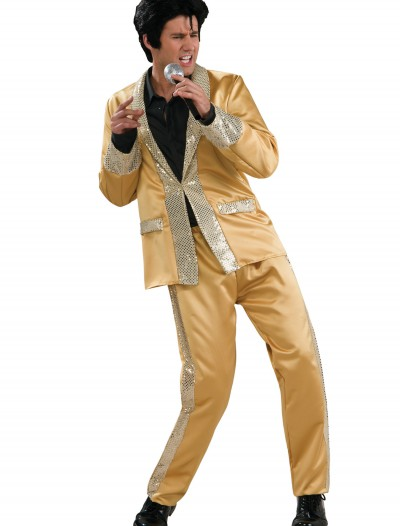 Deluxe Gold Satin Elvis Costume buy now