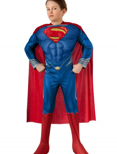 Deluxe Lite Up Man of Steel Superman Child Costume buy now