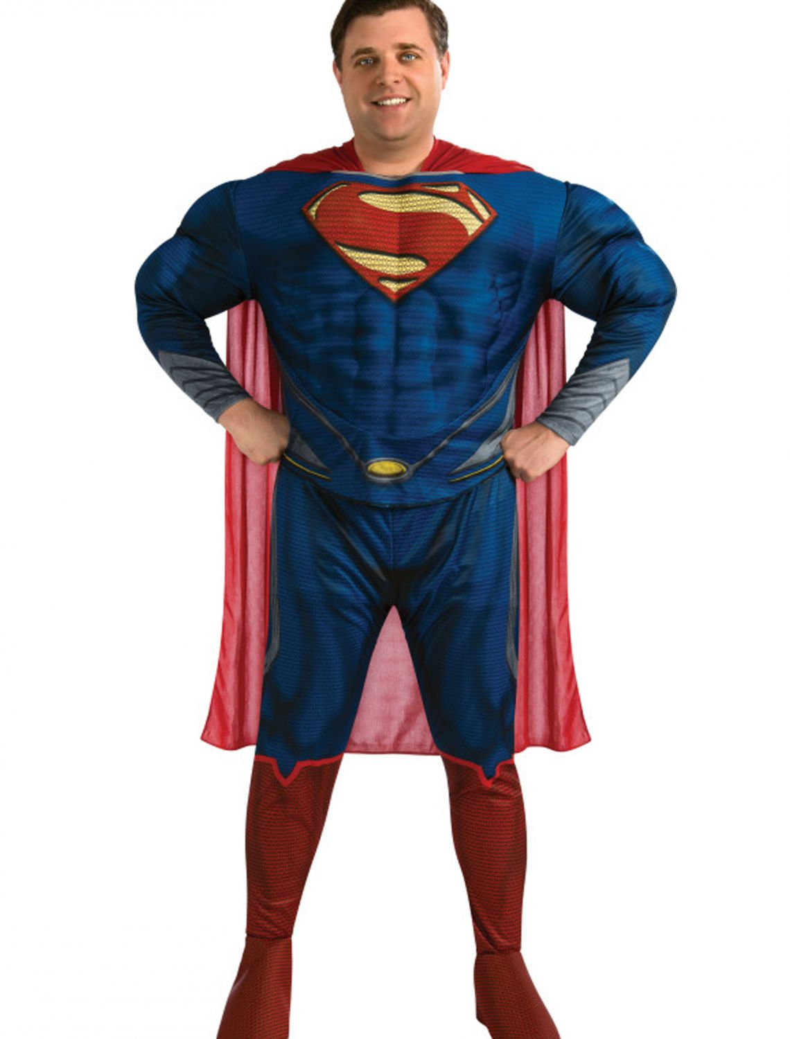 Rubies Costume Man Of Steel Deluxe Adult Muscle Chest