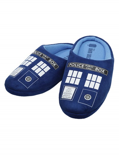 Doctor Who Tardis Slippers buy now