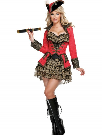 Elite Red Pirate Costume buy now